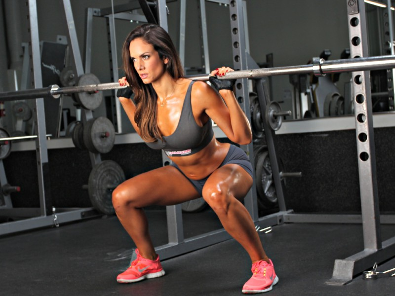 Tone glutes and legs with Squats