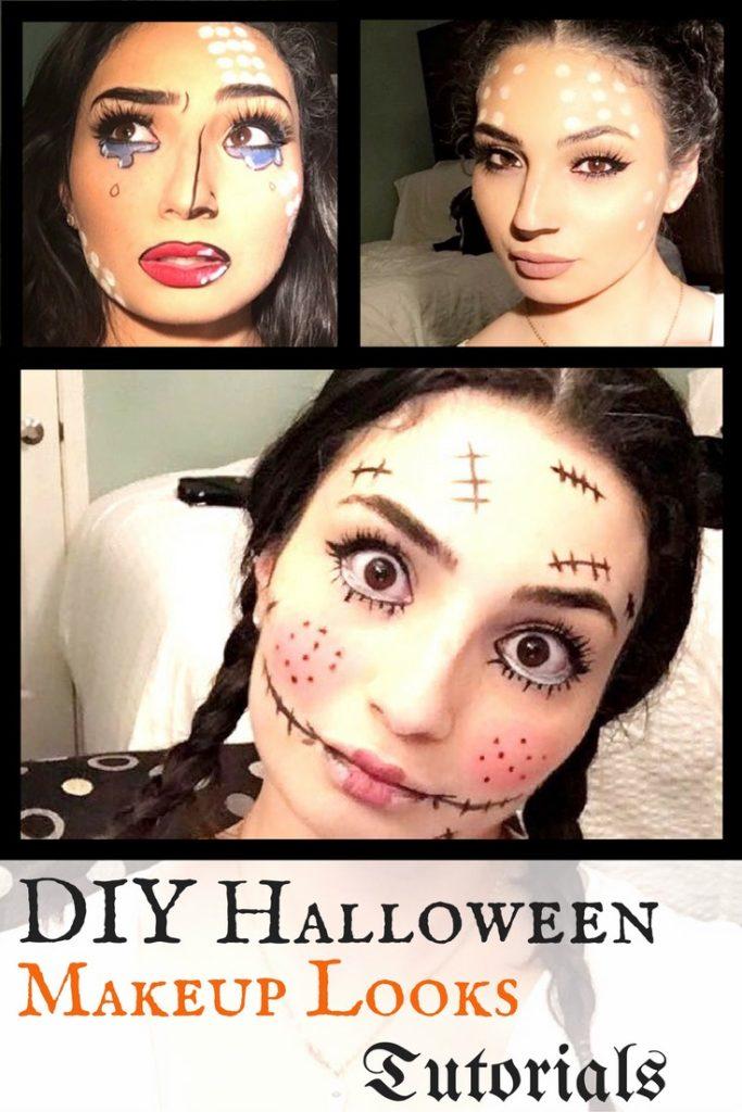 3 quick Halloween makeup ideas video tutorials