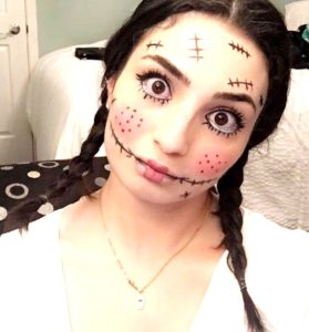 Creepy doll Halloween makeup ideas