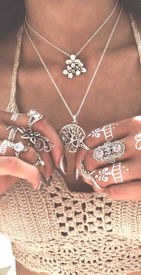 Boho accessories, Boho rings Coachella style, Boho fashion, Coachella accessories, Coachella fashion, Coachella jewelry