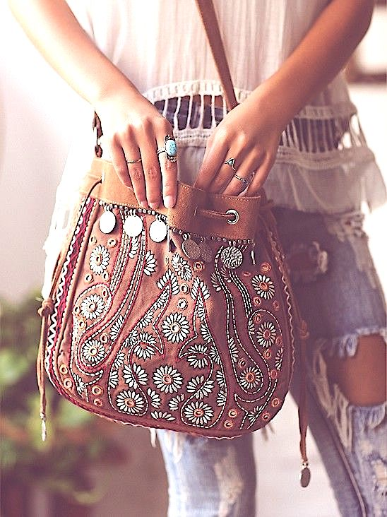 Boho fashion, Boho bag, gypsy bag, Coachella style, Coachella accessories, Coachella looks, Coachella fashions