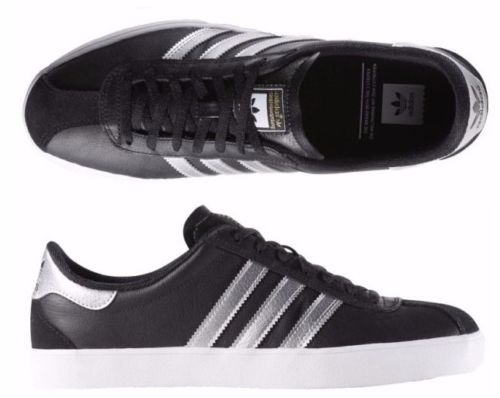 Adidas originals in black leather