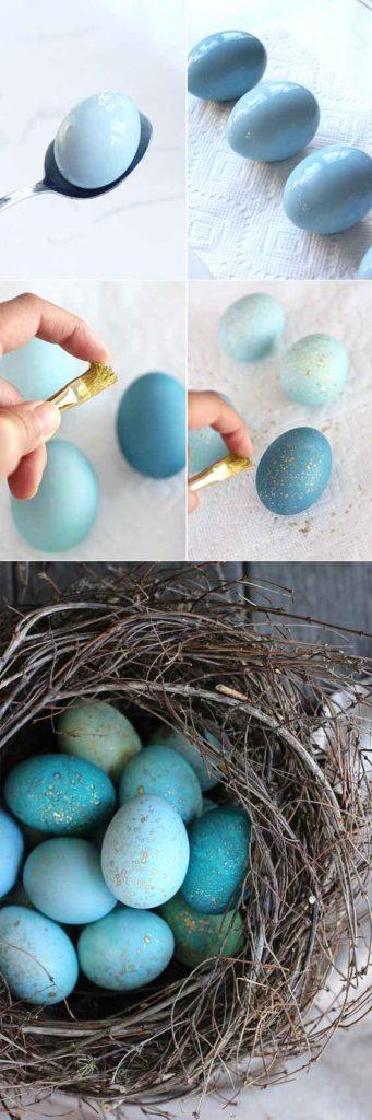 DIY Easter eggs nest, DIY Easter decoration ideas, DIY Easter eggs