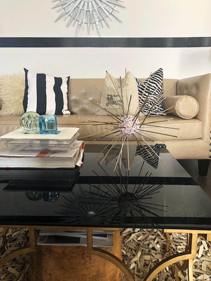 DIY Sea urchin on coffee table