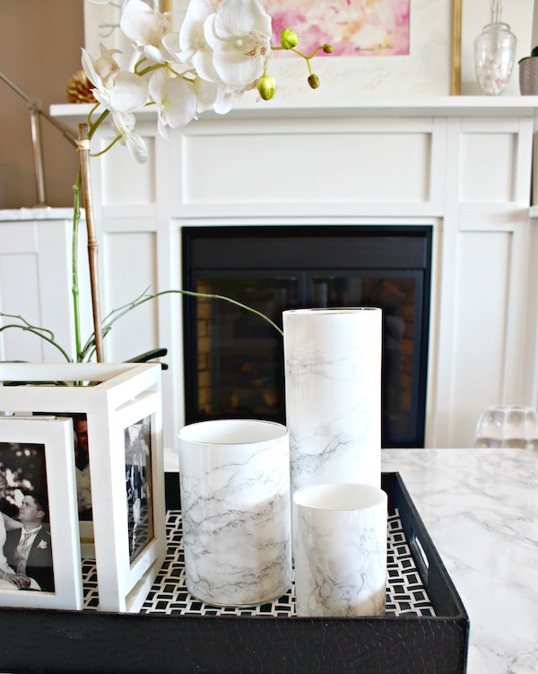 DIY marble vase, Marble contact paper, Adhesive contact paper