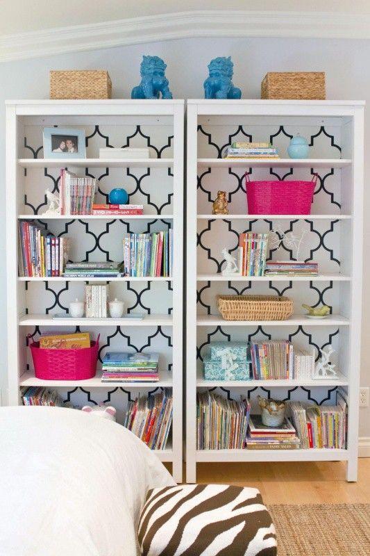 DIY trellis contact paper bookcase, Trellis contact paper, Adhesive contact paper