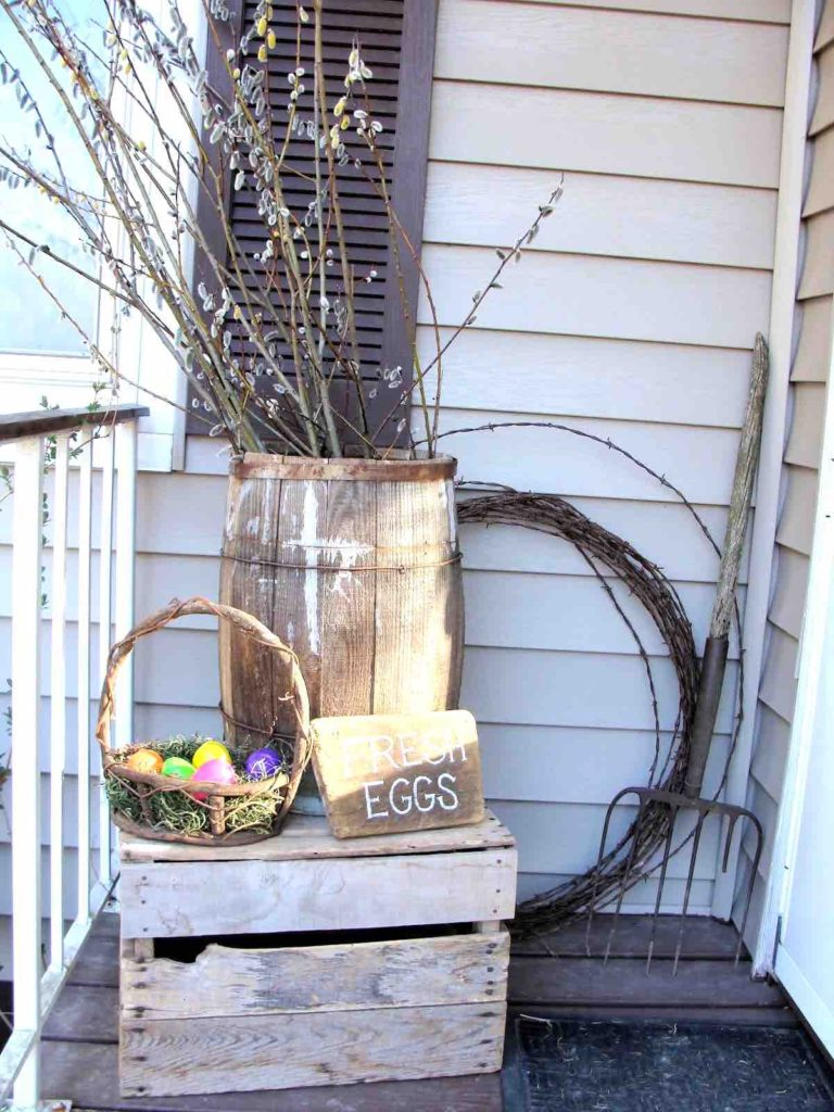 Easter porch decor ideas, Easter decoration ideas, Easter DIY decor
