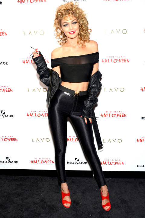 Gigi-Hadid-as-Sandy-from-Grease