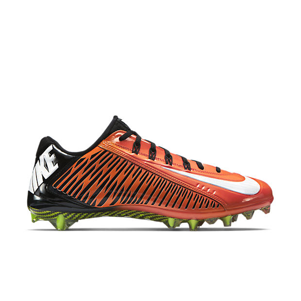 NIKE VAPOR CARBON ELITE 2014 TD FOOTBALL CLEATS ORANGE BLACK