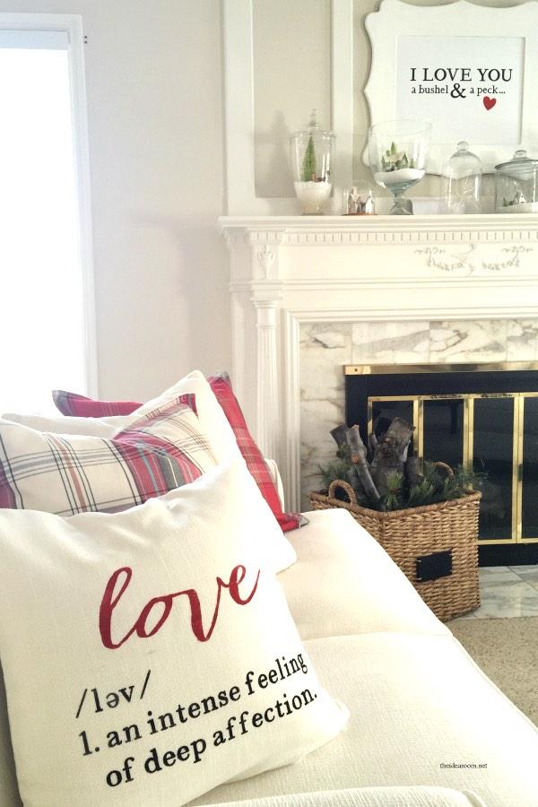 Valentines Day cushion printable