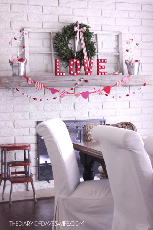 DIY garland mantle love pop garland