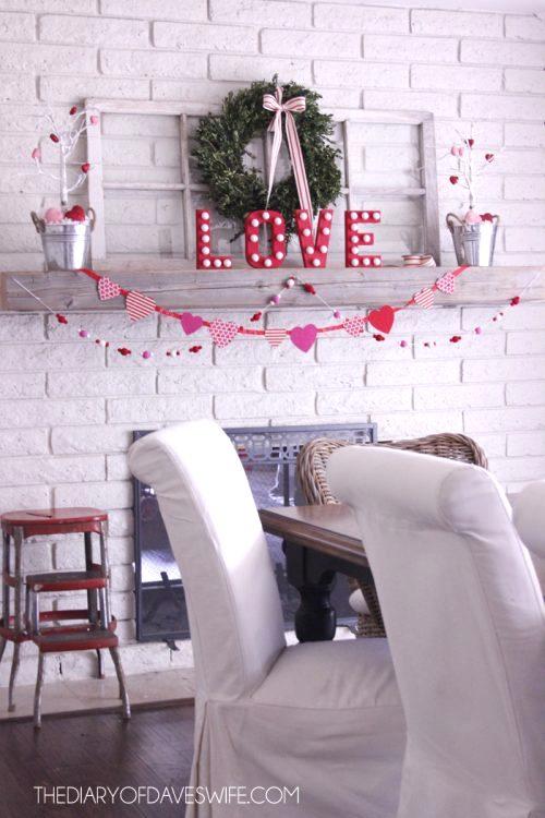 DIY garland mantle love pop garland