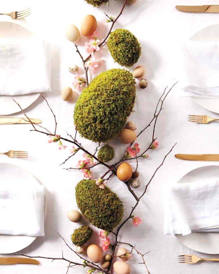 Easter moss centrepiece, Easter DIY decor, Easer decoration ideas, Easter DIY centrepiece