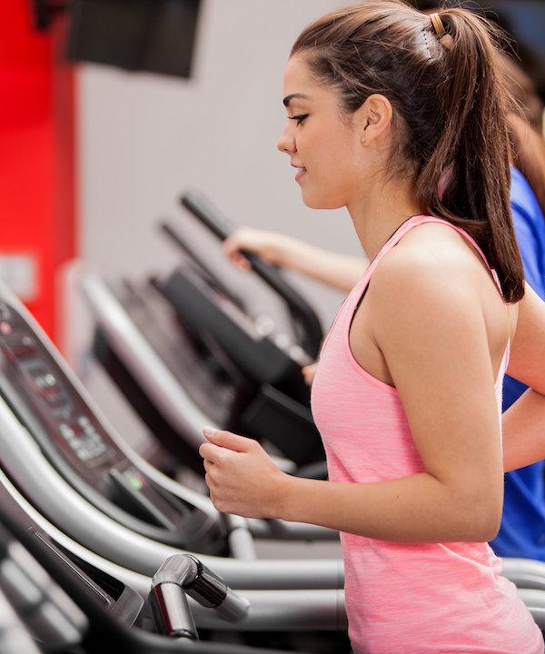 Cardio training, treadmill running