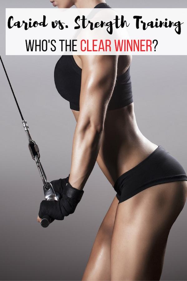 Cardio vs. Strength Training, weight training, women exercises, cardio exercise_pin