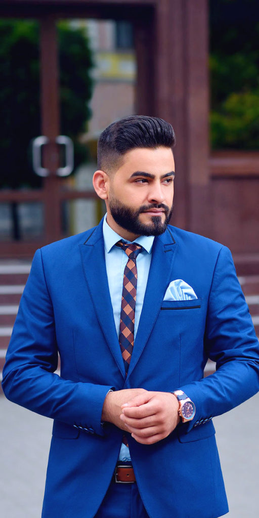 Men's royal blue suit, blue shirt, blue pocket square, Mens custom suits, customized suits, affordable suits