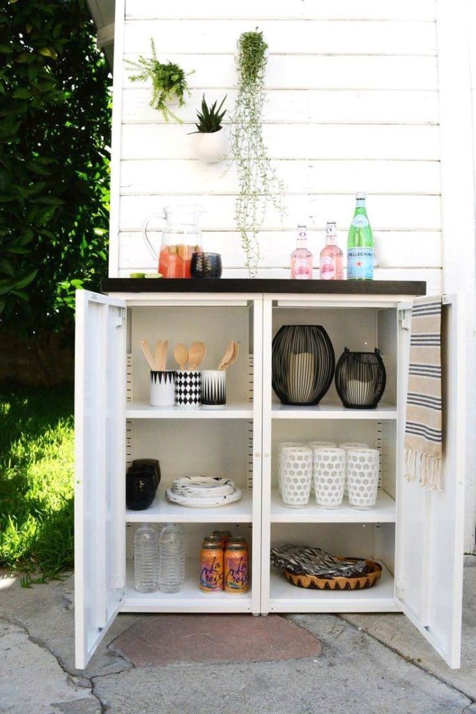 Outdoor living space, Home decor tips and tricks, Home decor ideas, Outdoor storage