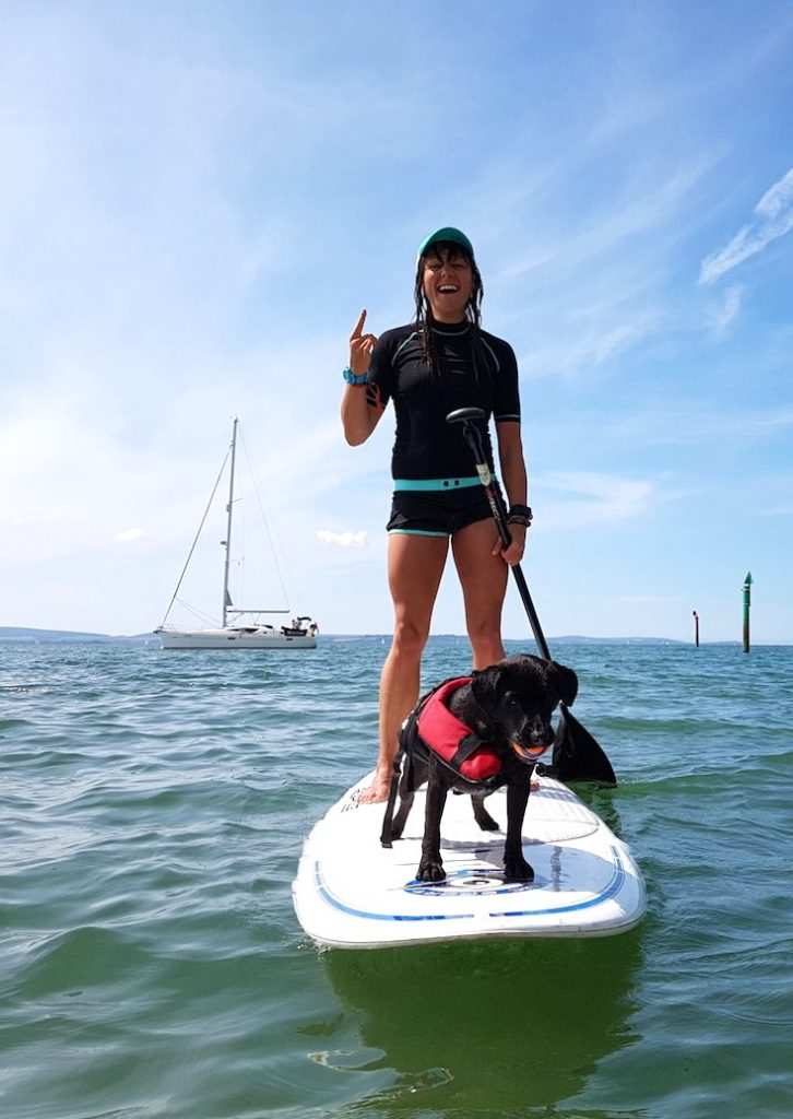 Benefits of exercise, exercise with dog workouts, fitness exercise with dog, exercise tips with dog, families exercise with dog, paddle board with dog, exercise ideas with dog, fun exercise with dog
