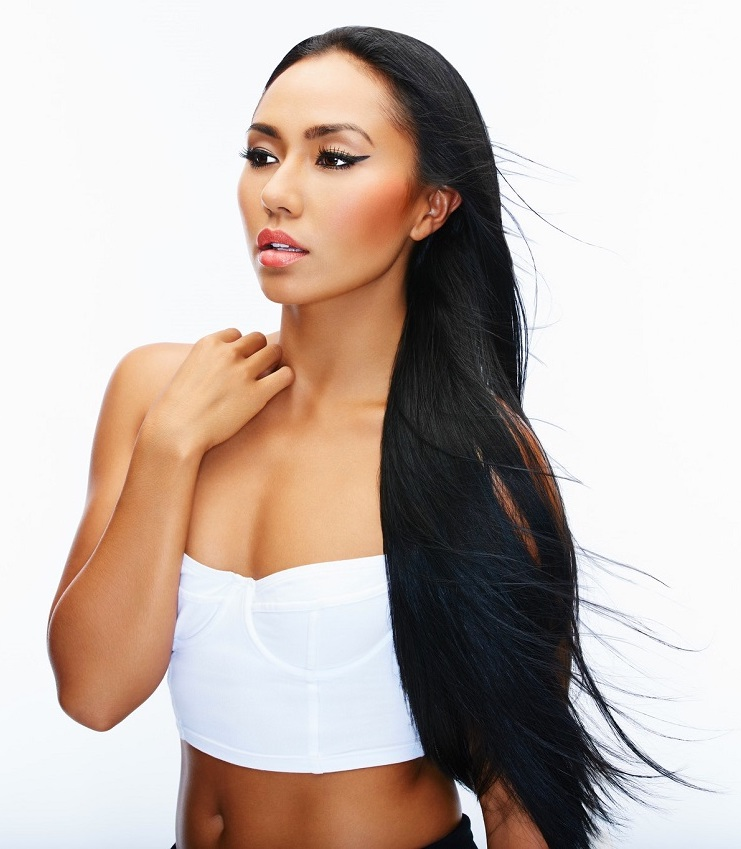 Peruvian straight black hair extensions
