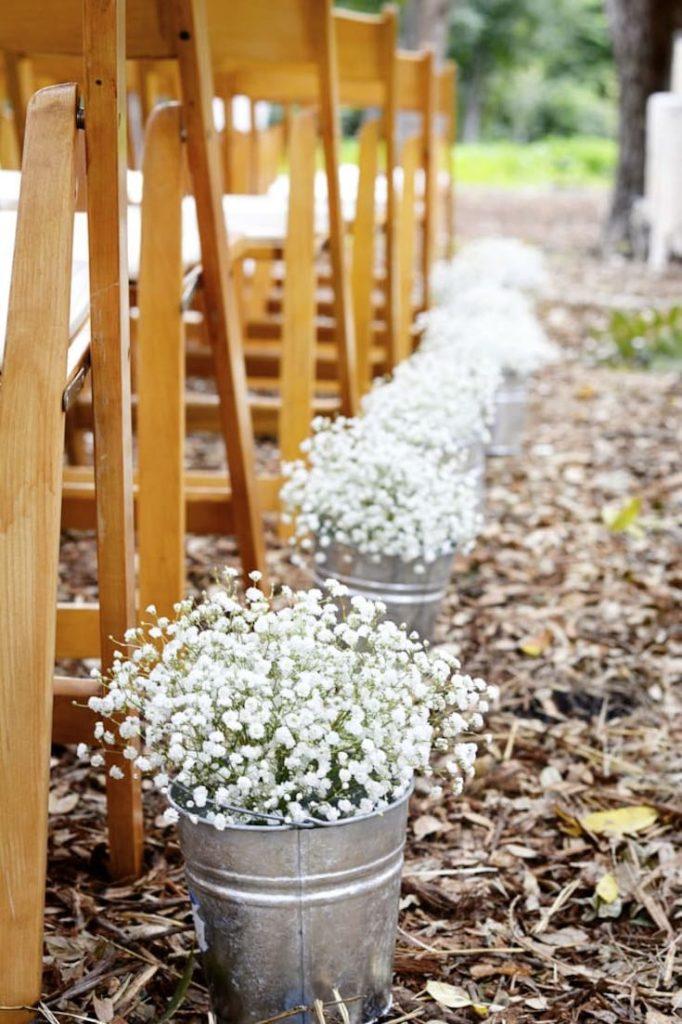 Baby breadth planters, Wedding decoration ideas, Wedding decorations on a budget, DIY Wedding decorations, Rustic Wedding decorations, Fall Wedding decorations
