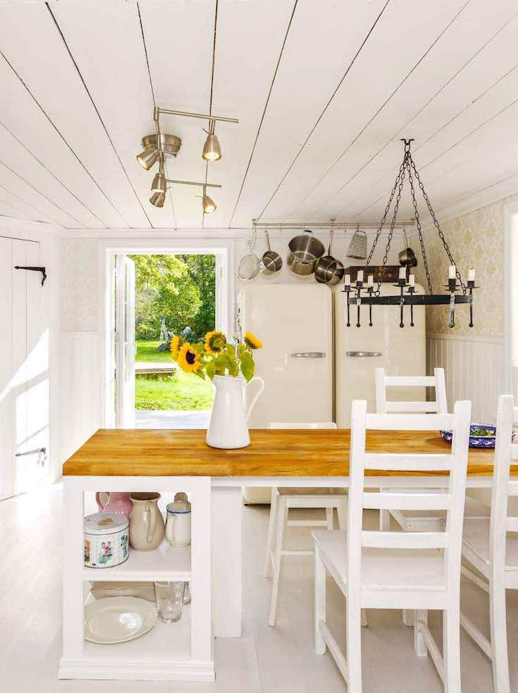 Country white renovated kitchen, first time home buyer_pin