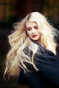 Grow your hair, woman with long blonde hair
