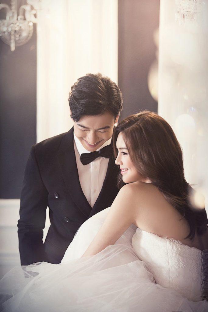 Wedding night husband and wife in hotel
