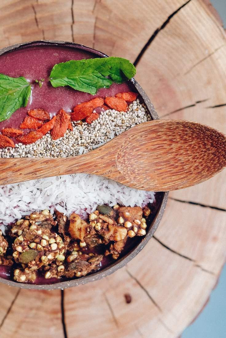 Acai superfoods wood bowl_Pin