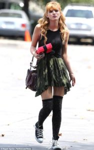 Bella Thorne in grunge look for summer