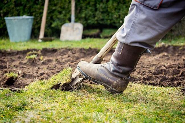 Digging a walkway