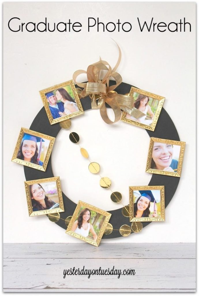 Graduate photo wreath