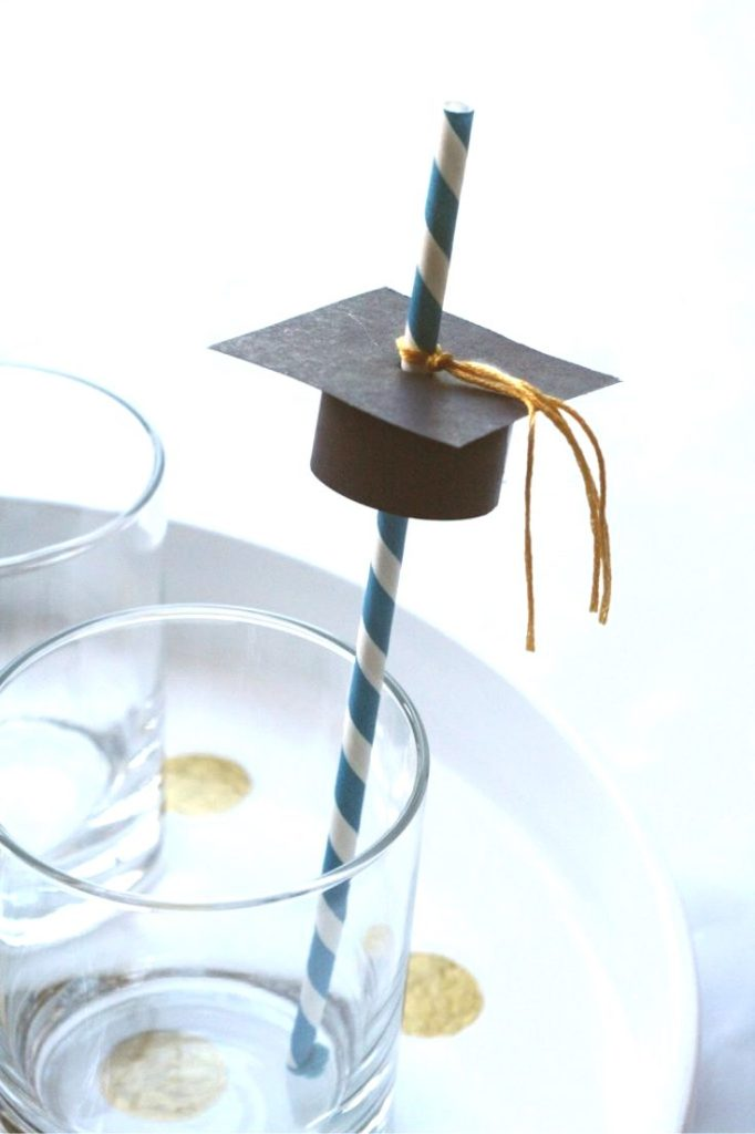 Graduation drink toppers