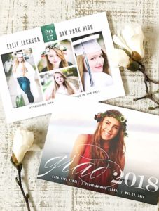 Graduation invitation cards with photos