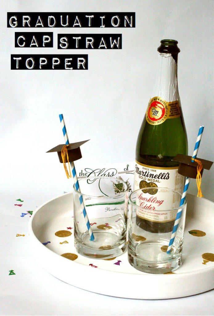 Graduation straw hat topper