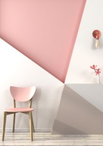 Home renovation, pink walls and accents