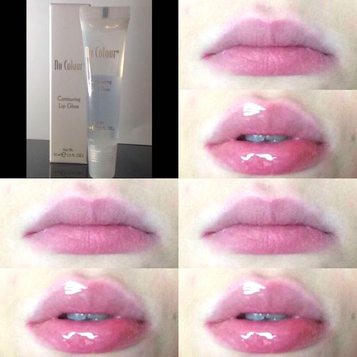 Nuskin Nu Colour Lip Plumper Gloss_Before_After