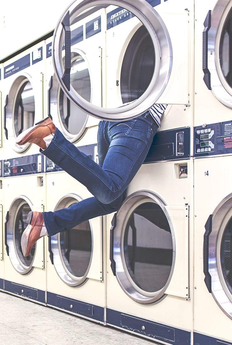 RVing trip laundromat stop