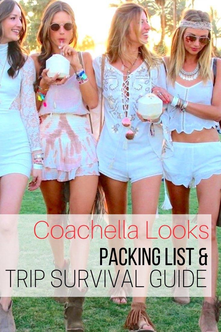 Coachella Looks Packing List & Trip Survival Guide_pin