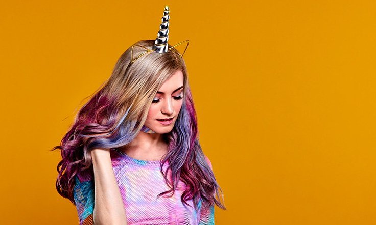 Colourful festival hair