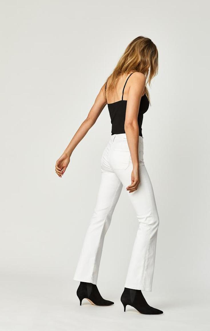 Mavi Sydney flare white jeans