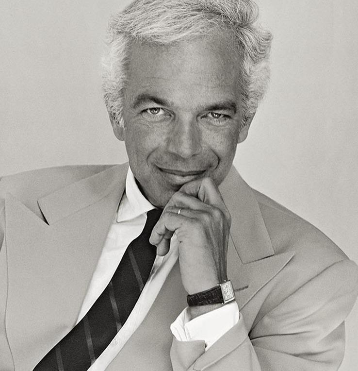 Ralph Lauren black and white portrait