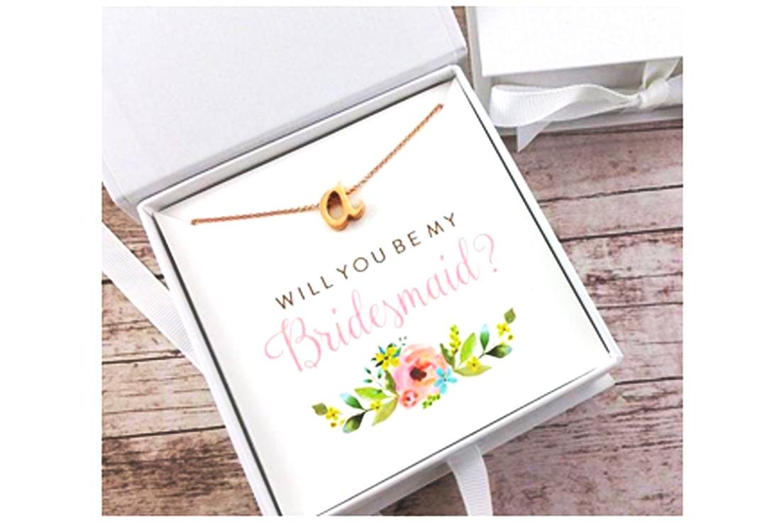 Bridal party keepsake necklace