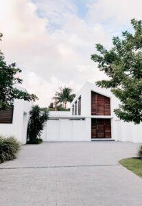 White modern home exterior