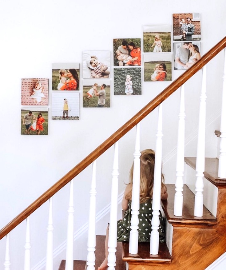 Mixtiles stair wall