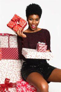 Present ideas, woman in long sleeve shirt, shorts_post