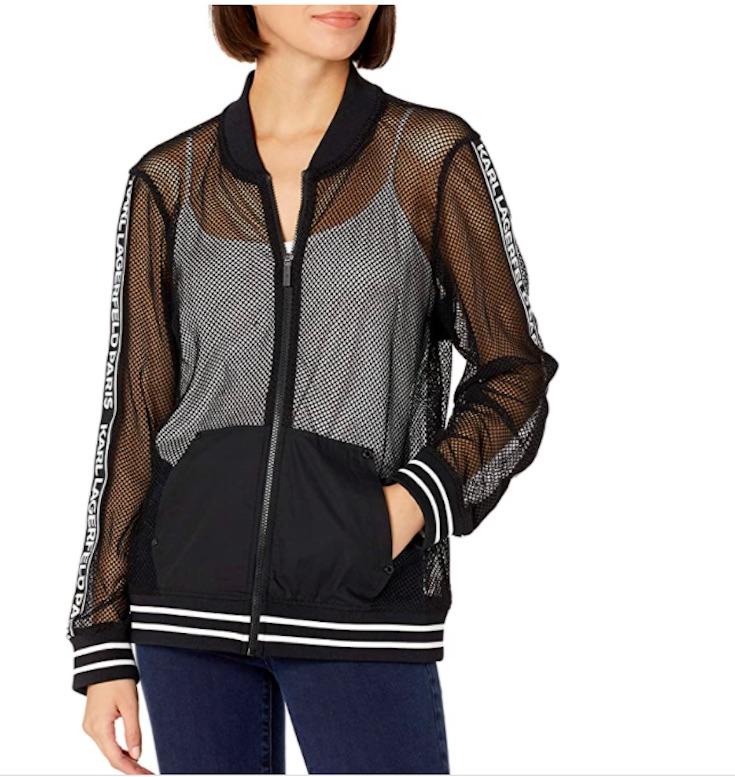 Lagerfeld mesh black jacket