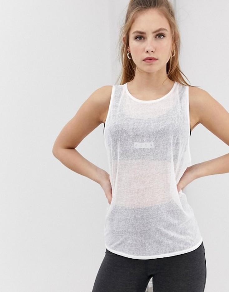 White workout top
