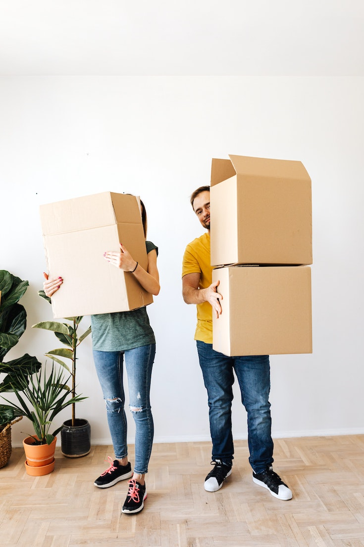 At Places For Rent, couple moving into apartment