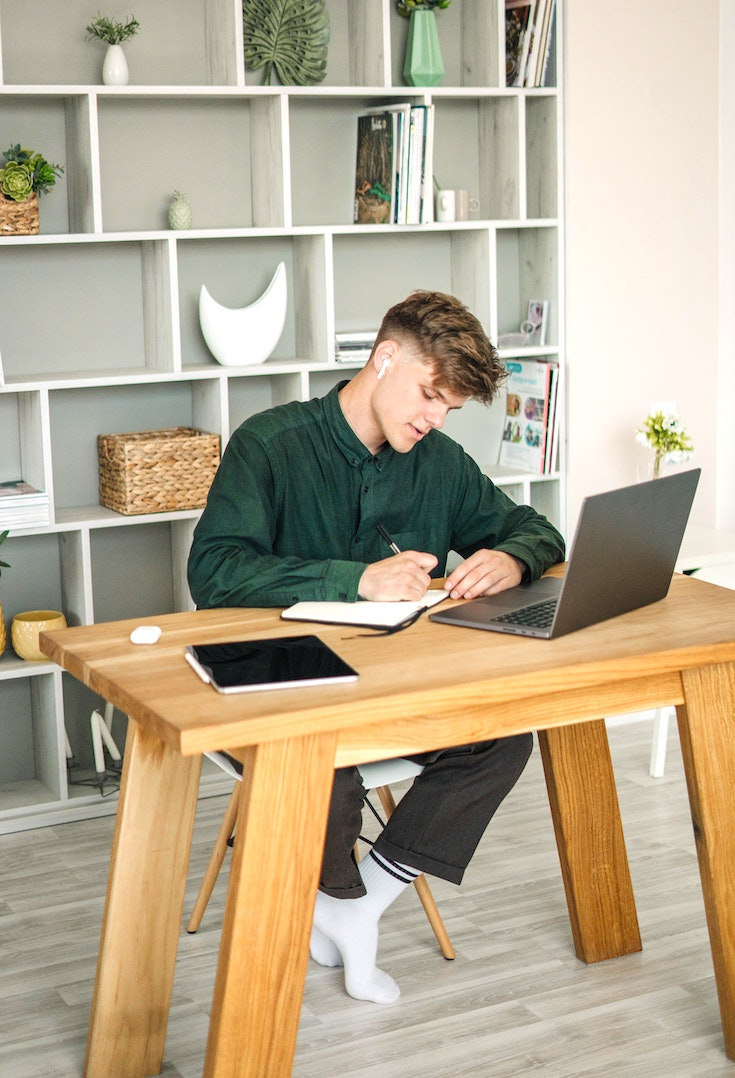 Home office desk and space
