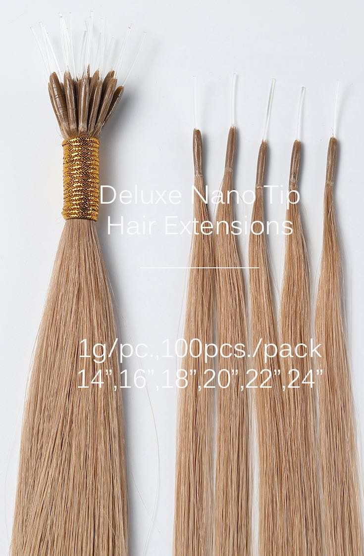 Nano-tip hair extensions